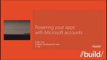 Powering your apps with Microsoft accounts