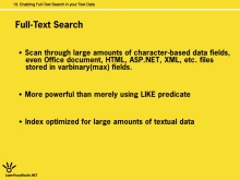 Enabling Full-Text Search in your Text Data
