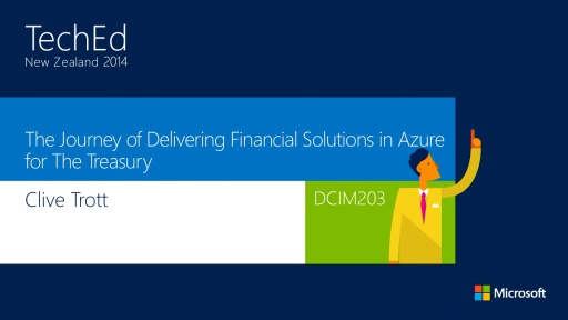The Journey of Delivering Financial Solutions in Azure for The Treasury