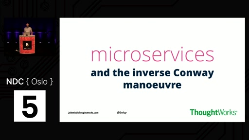 Talk: Microservices and the Inverse Conway Manoeuvre