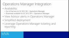 System Center 2012 R2 Advisor for IT Pros: (04) Operations Manager Integration