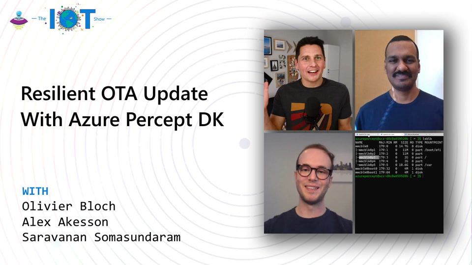Demo of a resilient OTA update solution with Azure Percept