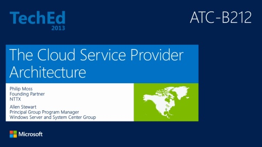 The Cloud Service Provider Architecture