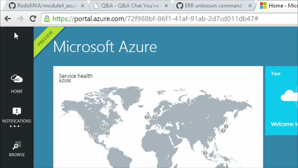 A Redis Jump Start: (04): Getting Started with Microsoft Azure Redis Cache