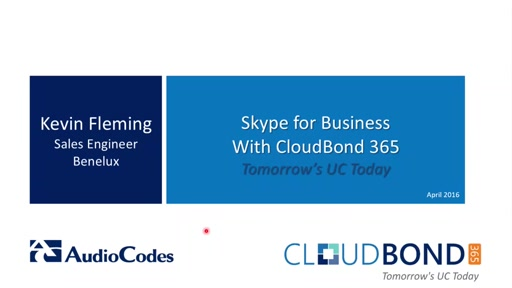 Be-Com E- Communications Event - Audiocodes CloudBond (By Kevin Flemming)