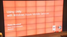 Using Unity with Windows Azure Mobile Services