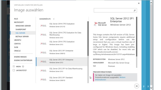 Teil 4 - Einrichten eines SQL Servers in Windows Azure