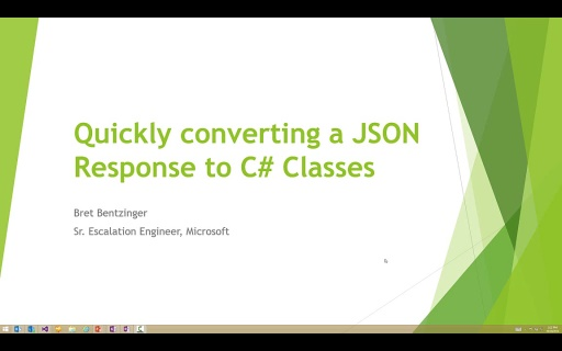 Quickly Generate C# Classes from JSON Responses
