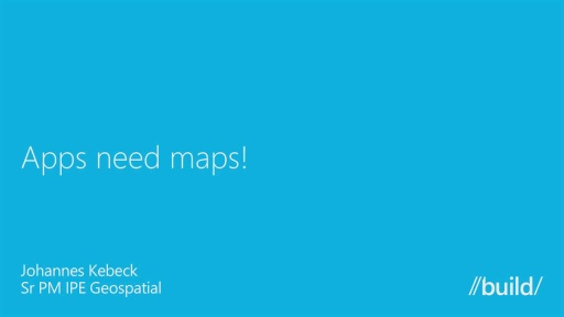Apps Need Maps!