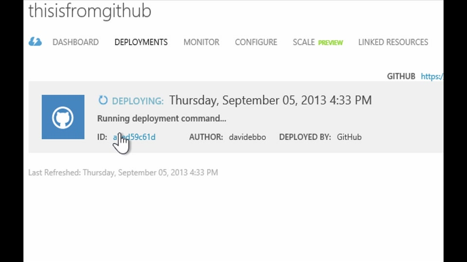 Deploying to Web Sites with GitHub using Kudu - with David Ebbo