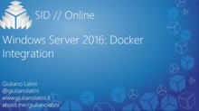Windows Server 2016 Docker Integration