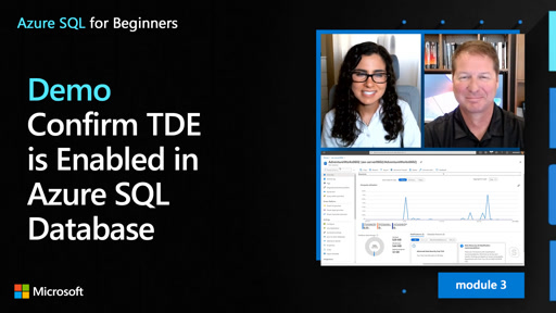 Demo: Confirm TDE is Enabled in Azure SQL Database (27 of 61)