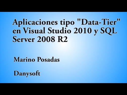 "12 HORAS VISUAL STUDIO APLICACIONES ""DATA-TIER"""