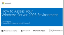 (Module 1) End of Support for Windows Server 2003