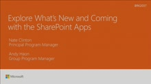 Explore whats new and coming with the SharePoint apps