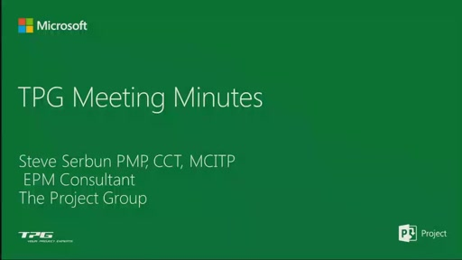 Capturing Meeting Minutes in MS Project Server 2013