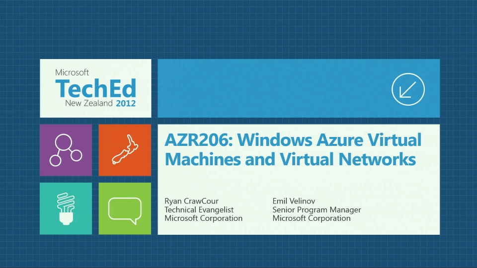 Windows Azure Virtual Machines and Virtual Networks