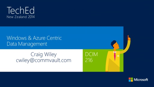 Windows and Microsoft Azure Centric Data Management