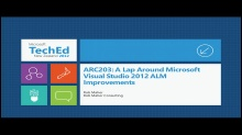 A Lap Around Microsoft Visual Studio 2012 ALM Improvements