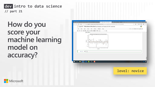 How do you score your machine learning model on accuracy? (21 of 28)