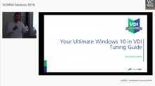 #VDILIKEAPRO: Your ultimate VDI & Windows 10 Tuning Guide
