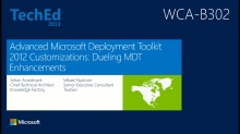 Advanced Microsoft Deployment Toolkit 2012 Customizations: Dueling MDT Enhancements