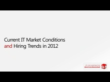 D³ Special: Current IT Market Conditions and Hiring Trends in 2012 with Paula Rainford