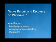 Application Restart and Recovery on Windows 7 in Native Code