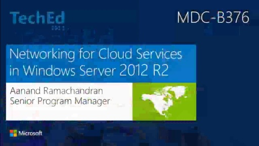 Networking for Cloud Services in Windows Server 2012 R2