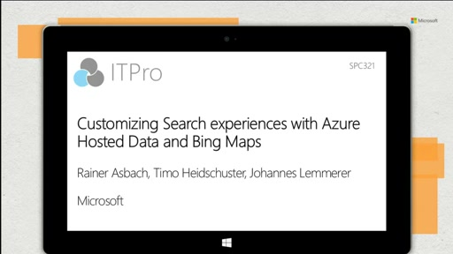 Customizing Search experiences with Azure Hosted Data and Bing Maps