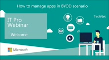 How to manage apps in BYOD scenarios