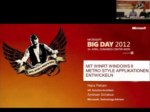 BigDay 2012 - Mit WinRT Windows 8 Metro Style Applikationen entwicklen