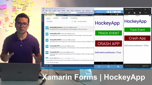 Integrating HockeyApp to Xamarin Forms