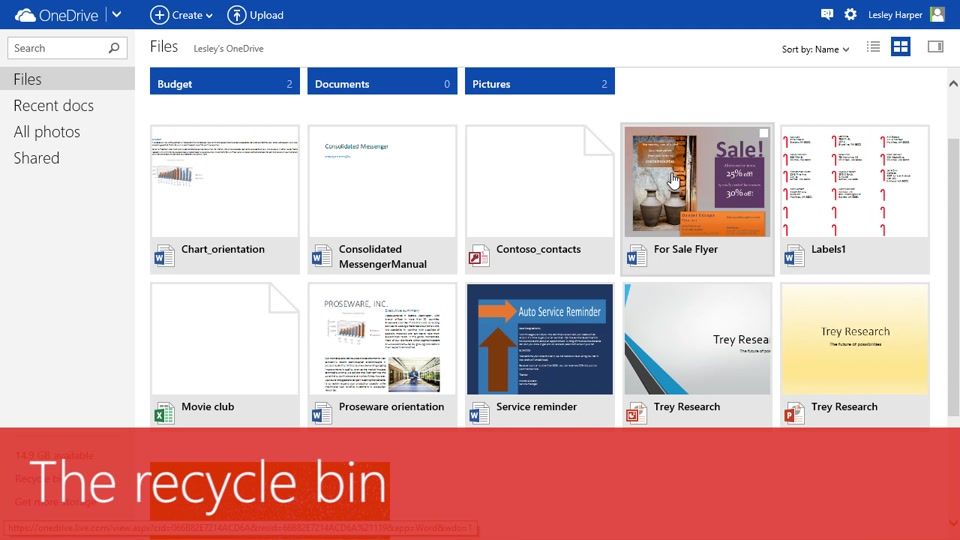 The Onedrive Recycle Bin Onedrive Store Sync And
