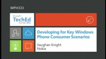 Developing for Key Windows Phone Consumer Scenarios