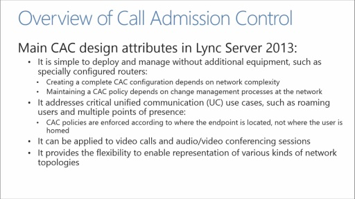 Lync Network Readiness Assessment: (05) Network Controls and Solutions