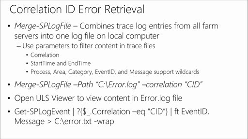 Deploying & Managing SharePoint 2013 with PowerShell: (05) Troubleshooting