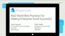 Real-world, best practices for making enterprise social successful