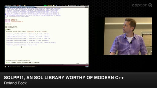 SQLPP11, An SQL Library Worthy of Modern C++