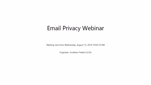 VFI Webinar Why Microsoft is Challenging the Federal Government to Protect Your Email Privacy
