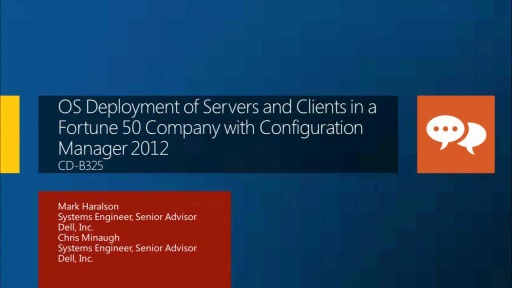 OS Deployment of Servers and Clients in a Fortune 50 Company with Configuration Manager 2012