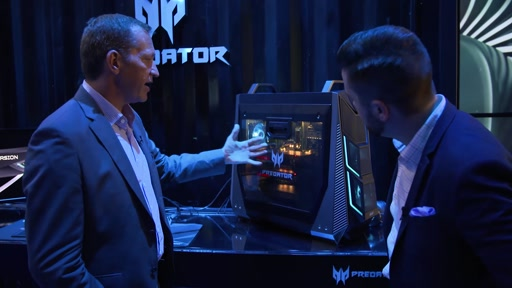 Acer Predator Super Gaming Desktop and Monitor