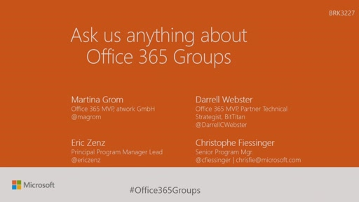 Ask us anything about Microsoft Office 365 Groups