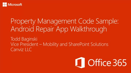 Property Management Code Sample: Android Repair App Walkthrough