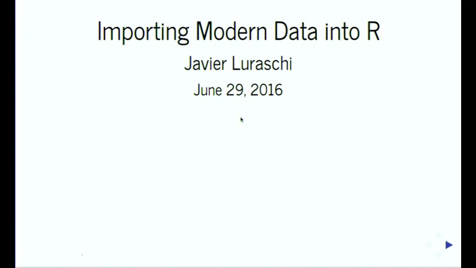 Importing modern data into R