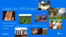 Cargill's Lync 2013 Implementation