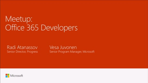 Meetup: Office 365 Developers