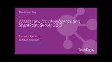What's new for developers using SharePoint Server 2013?
