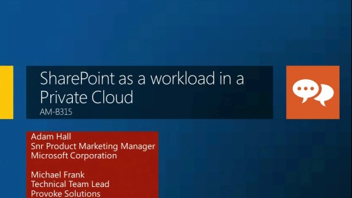 SharePoint As a Workload in a Private Cloud
