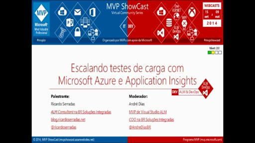 Escalando testes de carga com Microsoft Azure e Application Insights